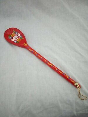 £5 • Buy Red Roses And Castles Hand Painted Decorative Wooden Spoon Barge Ware #02