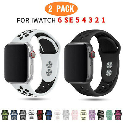 AU12.99 • Buy 2 PACK Silicone Sport Band Strap Fits Apple Watch 6 5 4 3 2 1 IWatch SE 40MM