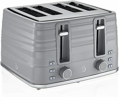 £150 • Buy Swan 4 Slice Grey Symphony Toaster ST31054GRN - Brand New - 2 Years Guarantee