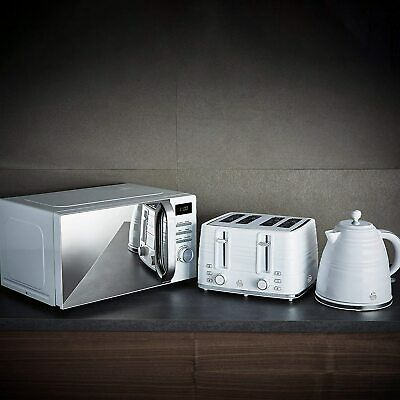 £184.99 • Buy Swan Symphony White 20L Microwave, 1.7L Kettle & 4 Slice Toaster Set -NEW
