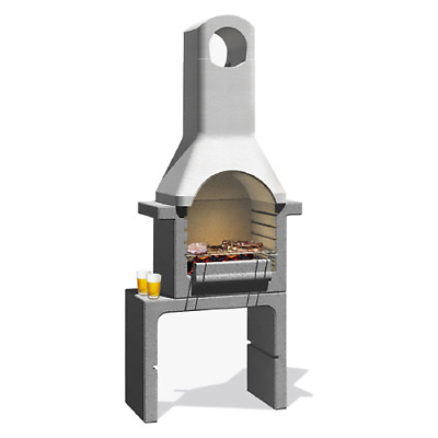 £453.44 • Buy Santander Brick Barbecue In Refractory Concrete 76x43x195.5 Cm With Grill