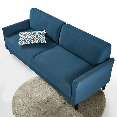 AU429 • Buy Sofa 3 Seater Couch Fabric Lounge - Blue Weave - Zinus Jackie