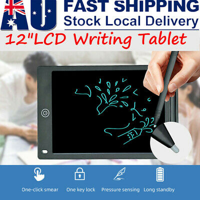 AU13.59 • Buy 12  LCD Tablet Drawing Writing Board Kid Notepad Digital Graphic For Kids Gifts