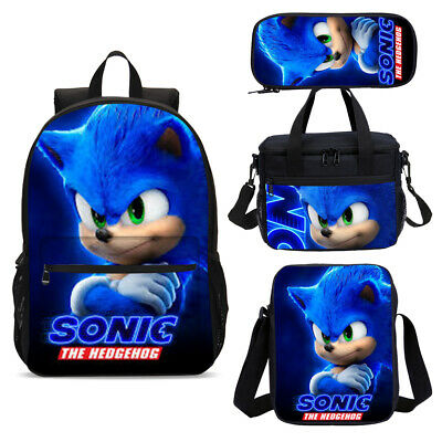 £8.98 • Buy Sonic The Hedgehog Backpack Insulated Lunch Box Crossbody Bags Pen Case Lot Gift