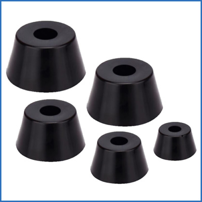 £4.09 • Buy 8 X Rubber Black Table Chair Furniture Feet Leg Cone Pads Tile Floor Protectors