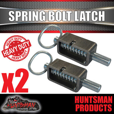 AU22.50 • Buy X2 Truck Trailer 4x4 Extremely Heavy Duty Spring Bolt Latch. 16mm Pin.  Weldable