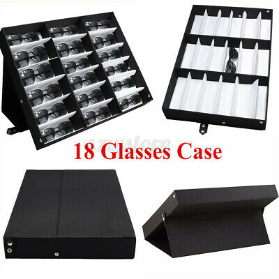 Large 18 Grids Sunglasses Glasses Box Case Retail Shop Display Stand Unit Tray • 11.99£