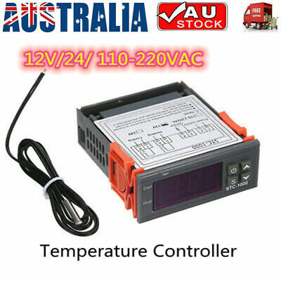 AU16.70 • Buy Digital Temperature Thermostat STC-1000 Controller 12V-220V Heating Cooling LCD
