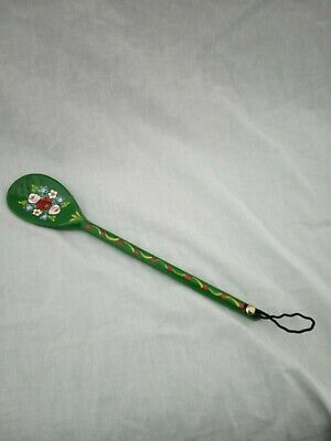 £5 • Buy Green Roses And Castles Hand Painted Decorative Wooden Spoon Barge Ware #02