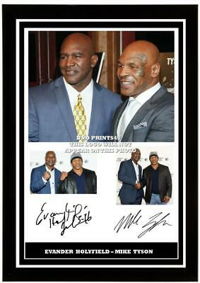 £6.90 • Buy (195) Evander Holyfield & Mike Tyson Boxing Signed Photograph Framed/unframed