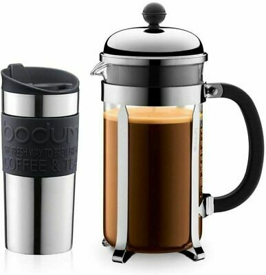 Bodum Chambord Coffee Set With Cafetiere And Travel Mug • 37.32£