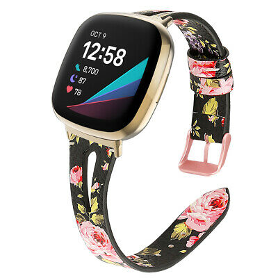 $ CDN17.03 • Buy For Fitbit Versa 3 / Sense Bands Replacement Watch Strap Leather Wristband