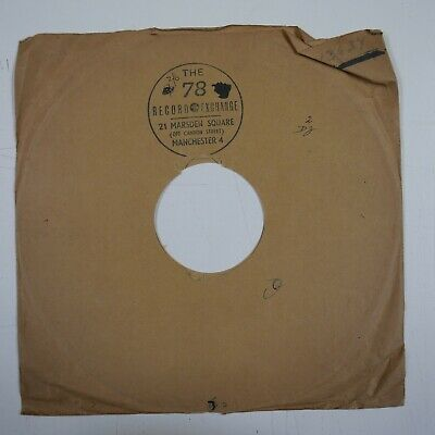 £8 • Buy 10  78 Rpm Gramophone Record Sleeve 78 RECORD EXCHANGE Manchester / Decca Ffrr