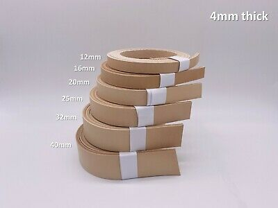 £3.20 • Buy Veg Tan Leather Belt Strip Strap 4mm Thick - Mixed A/B Grade & Select Size