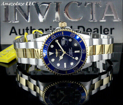 $ CDN54.40 • Buy NEW Invicta Men 42mm Gold 2Tone Prodiver Stainless Steel BLUE DIAL 200M Watch