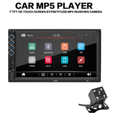 $71 • Buy 2Din 7'' Car Stereo Head Unit Touch Screen MP5 Player USB Radio Backup Camera