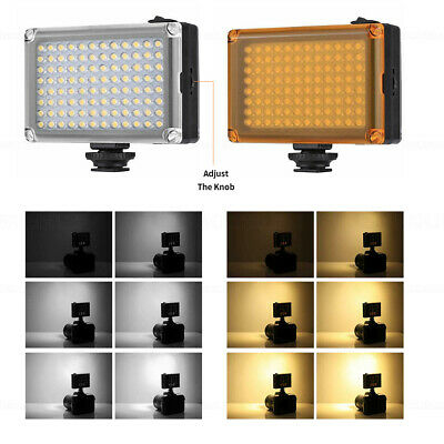 96 LED Camera Light With Filter CRI85+ Dimmable Fill Light For Cameras Camcorder • 13.79£