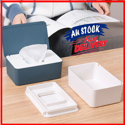 AU14.99 • Buy Tissue Box With Lid Baby Wipes Dispenser Pouch For Napkin Wet Wipe Storage Tool