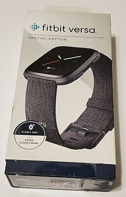 $ CDN124.07 • Buy Fitbit FB505BKGY Versa Special Edition - Charcoal Woven Open Box