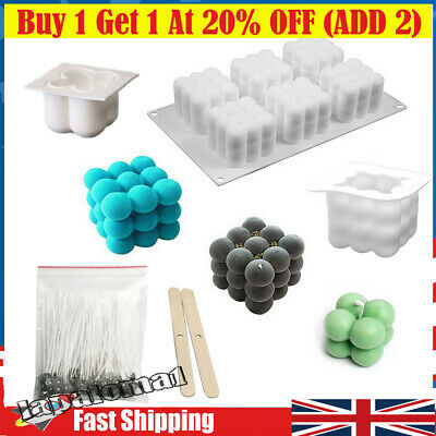 £4.59 • Buy 3D Silicone Candle Moulds DIY Soy Soap Aromatherapy Candles Wax Plaster Mold UK