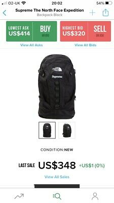 $ CDN432.78 • Buy Supreme X The North Face Expedition Backpack / FW18 / Black