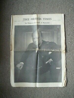 £1.49 • Buy The TIMES Newspaper WINSTON CHURCHILL A Memorial 25th January 1965 Photographs