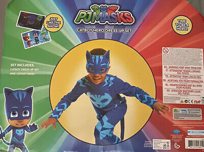 Amscan 9902964 Jumpsuit Costume With PJ Masks Catboy Years 4-6 - New Fast 🚚💨 • 20£