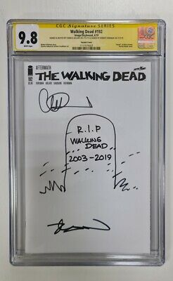 AU460.76 • Buy The Walking Dead #192 - Blank Variant Double Signed & Sketched - Cgc 9.8