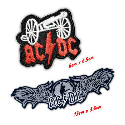 £1.79 • Buy ACDC Hard Rock Music Band Logo Iron On Sew On Embroidered Patches