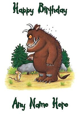 £3.80 • Buy Personalised The Gruffalo Birthday Card A5 260gsm Gloss Finish V1