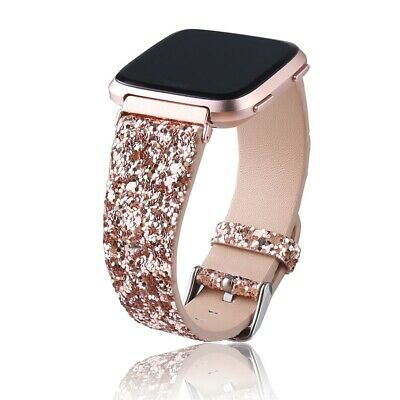 $ CDN17 • Buy Leather Bling Watch Band For Fitbit Versa 2/Versa Lite/Versa Replacement Strap