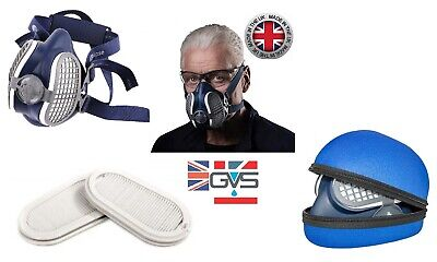 GVS Elipse SPR501 Reusable Half Mask, Add P3 Replacement Filters Or Storage Case • 24.95£