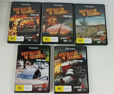 AU119.95 • Buy Destroyed In Seconds. Volumes 2, 4, 5, 6, 7 And 8 DVD - Discovery Channel - RARE