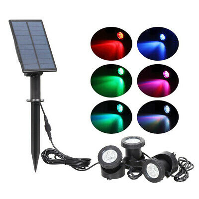 18 LED Solar Spot Lights Waterproof Color Changing Wall Outdoor Garden Path Lamp • 26.85£