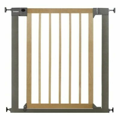 £45.97 • Buy Lindam Baby Infant Safety Stair Wall Metal Gate Sure Shut Deco Natural Wood