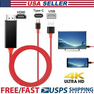 $9.95 • Buy For Samsung Note 10 9 8 S10 S9 S8 Plus 4K MHL Type C To HDMI AV TV Cable Adapter