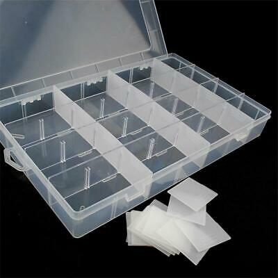£7.98 • Buy Clear Plastic Storage Organiser Compartment Craft Beads Jewellery Tool Box Case
