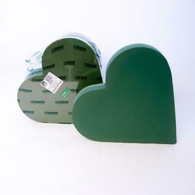£17.50 • Buy Oasis Wet Foam Backed Solid Heart 18inch Florist Funeral Frame Pack Of 1 Or 2