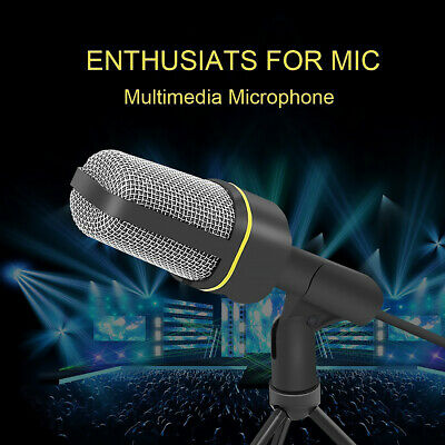 AU11.99 • Buy Microphone With Mini Stand Tripod Audio Recording For Computer PC Phone Desktop