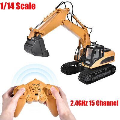 RC Excavator Digger 1/14 Scale 2.4GHz 15 Channel Remote Control Truck Toy Gifts • 43.95£