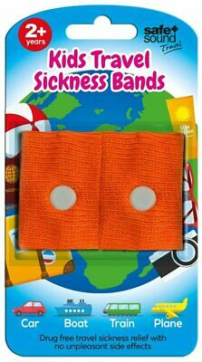 £4.70 • Buy Safe And Sound Travel Sickness Bands For Ages 2+Colour Received Will Vary 2Pack