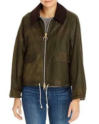 AU551.61 • Buy Barbour By Alexa Chung Margot Waxed Cotton Jacket (Olive, 14)