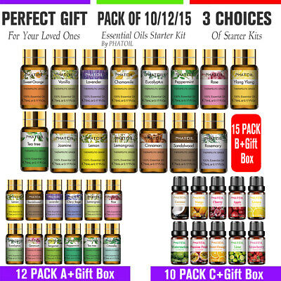 AU23.58 • Buy 12/15x Organic Essential Oils 100% Pure & Natural Aromatherapy Oil Set Diffuser