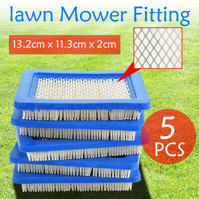 AU12.69 • Buy 5pcs Air Filter Lawn Mower Fitting For Briggs & Stratton 491588 491588S 399959 Z