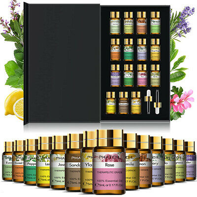 AU23.58 • Buy 15Pcs Essential Oil Set Aromatherapy Gift Kit 100% Pure Oils For Humidifier AU
