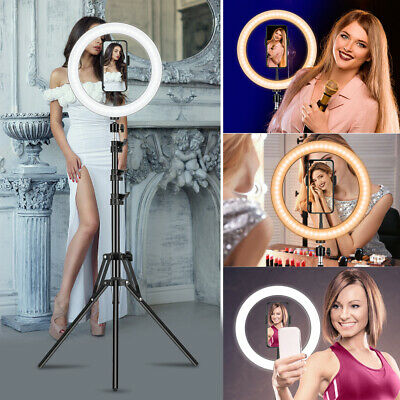 AU13.85 • Buy 10  LED Ring Light Lamp Stand Kit Dimmable Photo Studio Selfie Phone Live Makeup