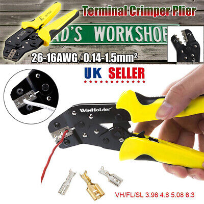 £8.99 • Buy Automatic Ratchet Crimper Cable Wire Terminals Electrical Plier Crimping Tool UK