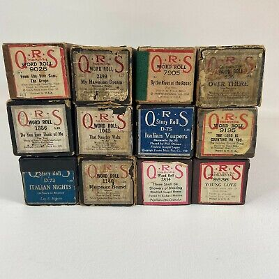 $ CDN35.08 • Buy QRS Vintage Player Piano Rolls Lot Of 12