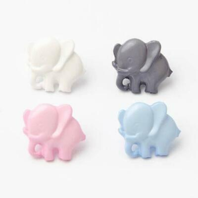 £1.99 • Buy 10 Cute Childrens Baby Elephant Design Buttons Pink Grey Baby Blue Polar White