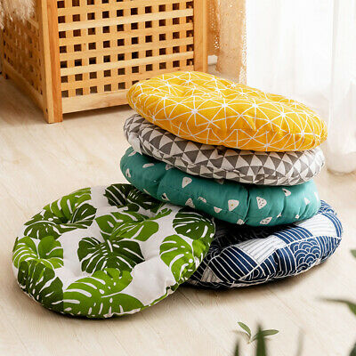 £5.99 • Buy Nordic Cotton Round Cushions Dining Chair Seat Thick Pads Garden Floor Pillow UK